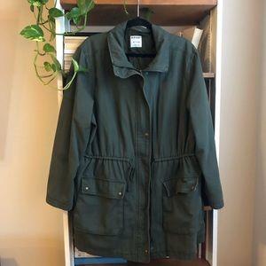 Plus Size Army Utility Coat